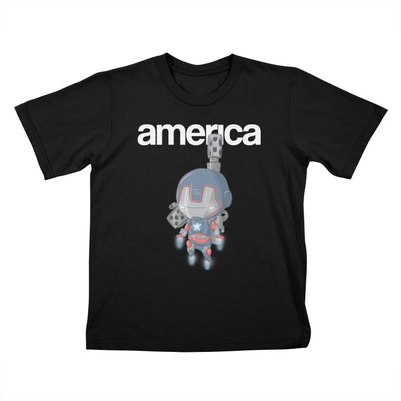 Iron Patriot Cheeb Kids T-Shirt by noaheisenman's Shop