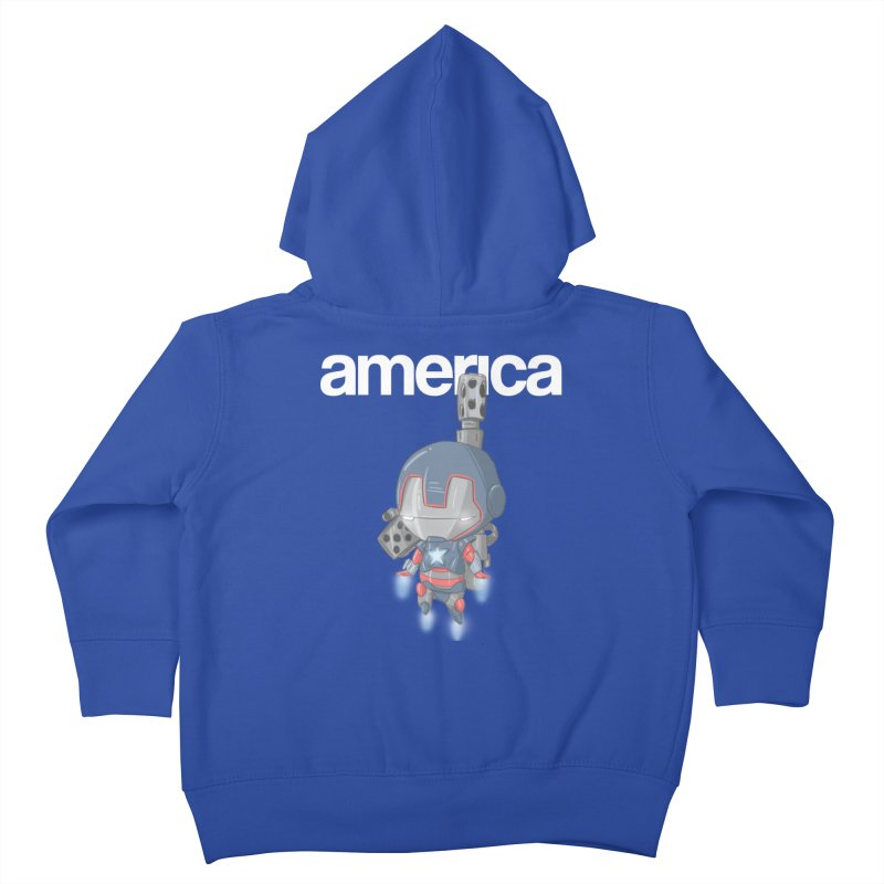 Iron Patriot Cheeb Kids Toddler Zip-Up Hoody by noaheisenman's Shop