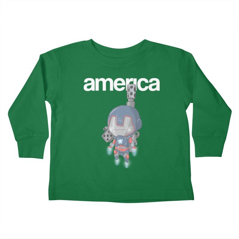 Iron Patriot Cheeb Kids Toddler Longsleeve T-Shirt by noaheisenman's Shop