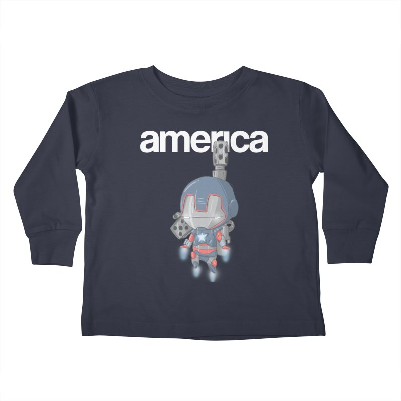 Iron Patriot Cheeb Kids Toddler Longsleeve T-Shirt by noaheisenman's Shop