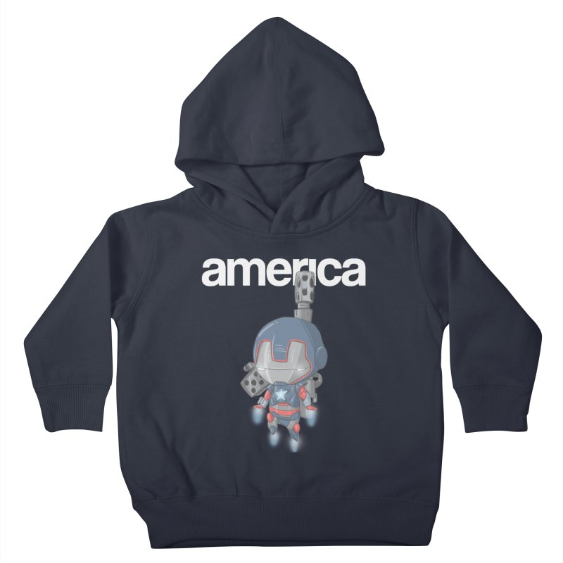 Iron Patriot Cheeb Kids Toddler Pullover Hoody by noaheisenman's Shop