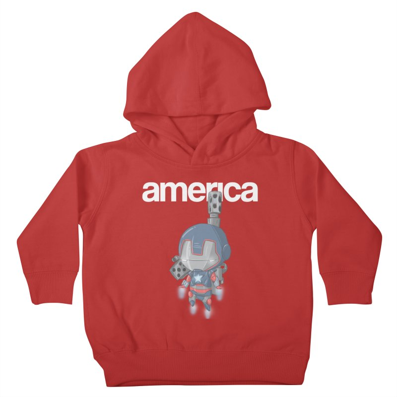 Iron Patriot Cheeb Kids Toddler Pullover Hoody by noaheisenman's Shop