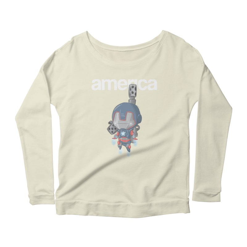 Iron Patriot Cheeb Women's Longsleeve Scoopneck  by noaheisenman's Shop