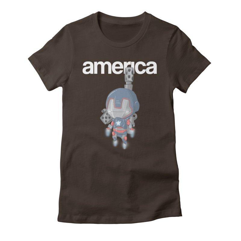 Iron Patriot Cheeb Women's Fitted T-Shirt by noaheisenman's Shop