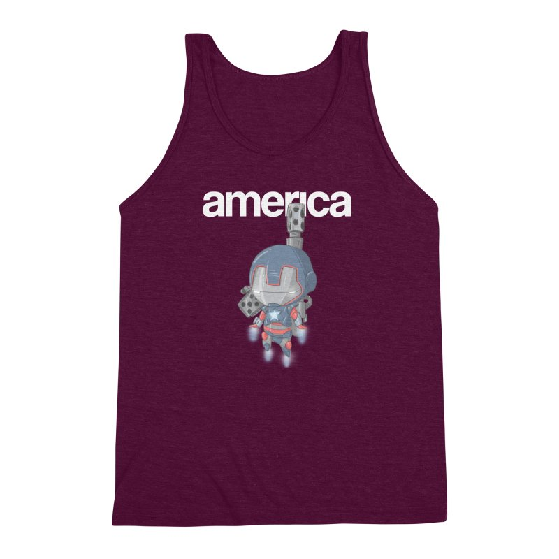 Iron Patriot Cheeb Men's Triblend Tank by noaheisenman's Shop