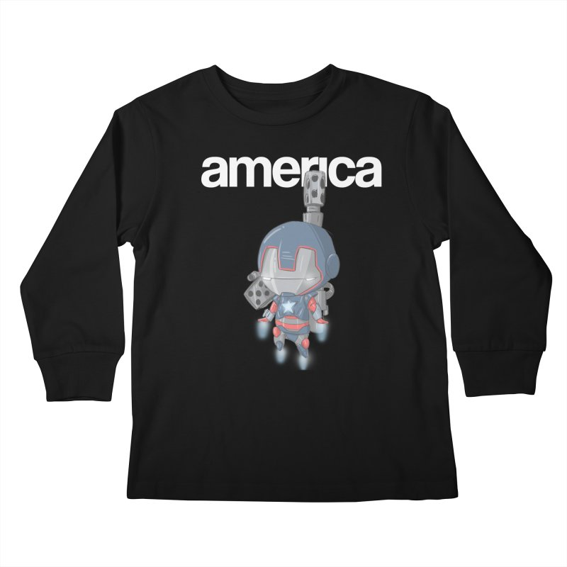 Iron Patriot Cheeb Kids Longsleeve T-Shirt by noaheisenman's Shop