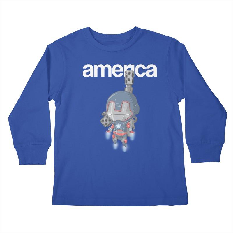 Iron Patriot Cheeb Kids Longsleeve T-Shirt by noaheisenman's Shop