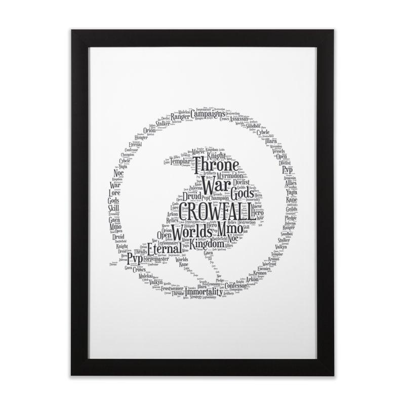 Crowfall Cloud Home Framed Fine Art Print by Shirts by Noc