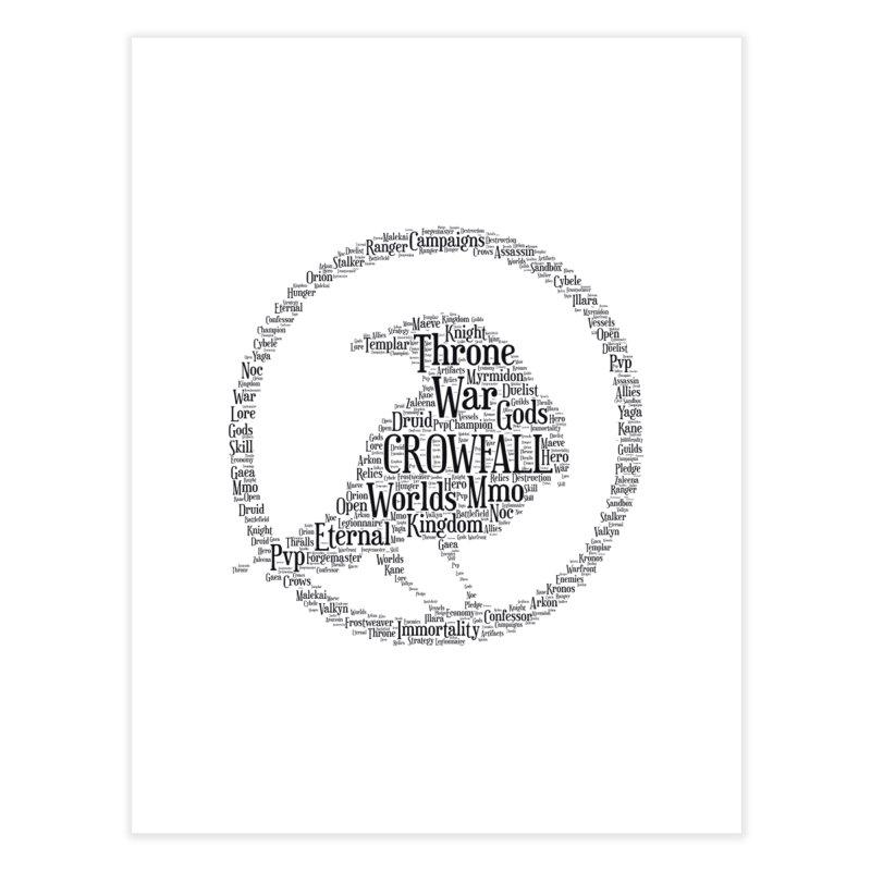 Crowfall Cloud Home Fine Art Print by Shirts by Noc