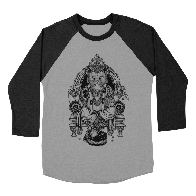 Cat Guru Deva Om Women's Baseball Triblend T-Shirt by Michele_Nolli's Artist Shop