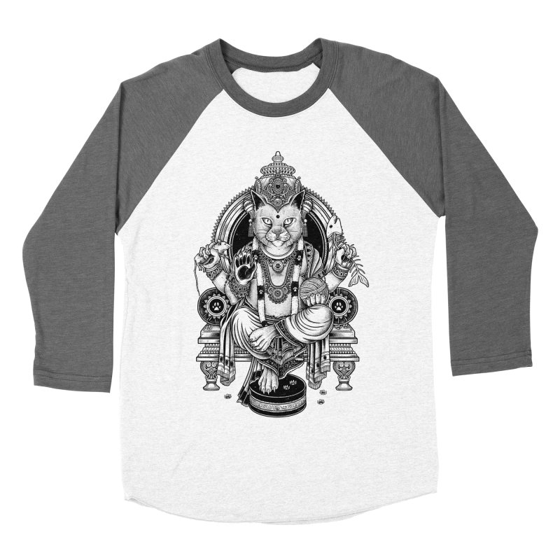 Cat Guru Deva Om Men's Baseball Triblend T-Shirt by Michele_Nolli's Artist Shop