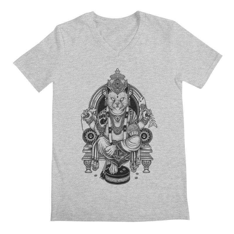 Cat Guru Deva Om Men's V-Neck by Michele_Nolli's Artist Shop
