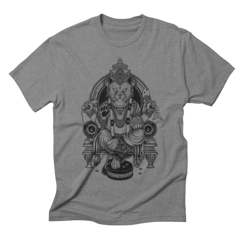 Cat Guru Deva Om Men's Triblend T-shirt by Michele_Nolli's Artist Shop