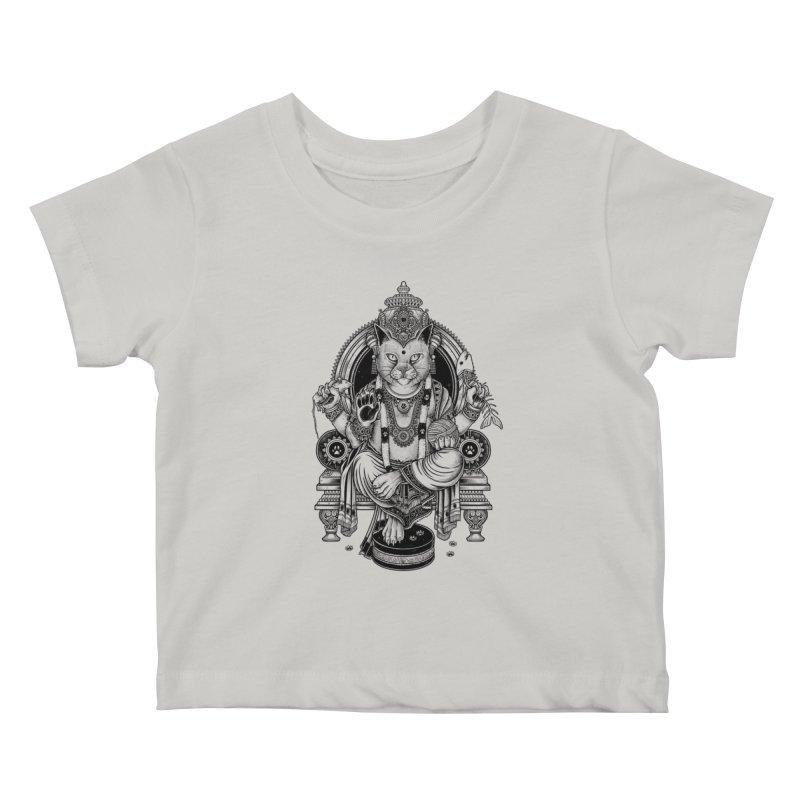 Cat Guru Deva Om Kids Baby T-Shirt by Michele_Nolli's Artist Shop