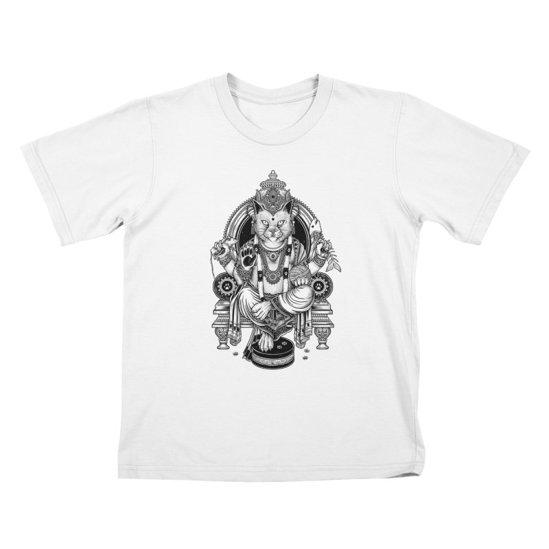 Cat Guru Deva Om Kids T-shirt by Michele_Nolli's Artist Shop