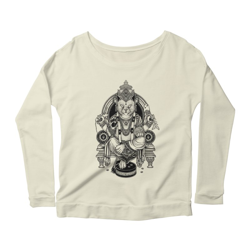 Cat Guru Deva Om Women's Longsleeve Scoopneck  by Michele_Nolli's Artist Shop
