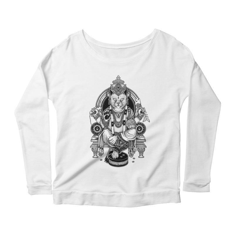 Cat Guru Deva Om Women's Longsleeve Scoopneck  by Michele_Nolli's Artist Shop