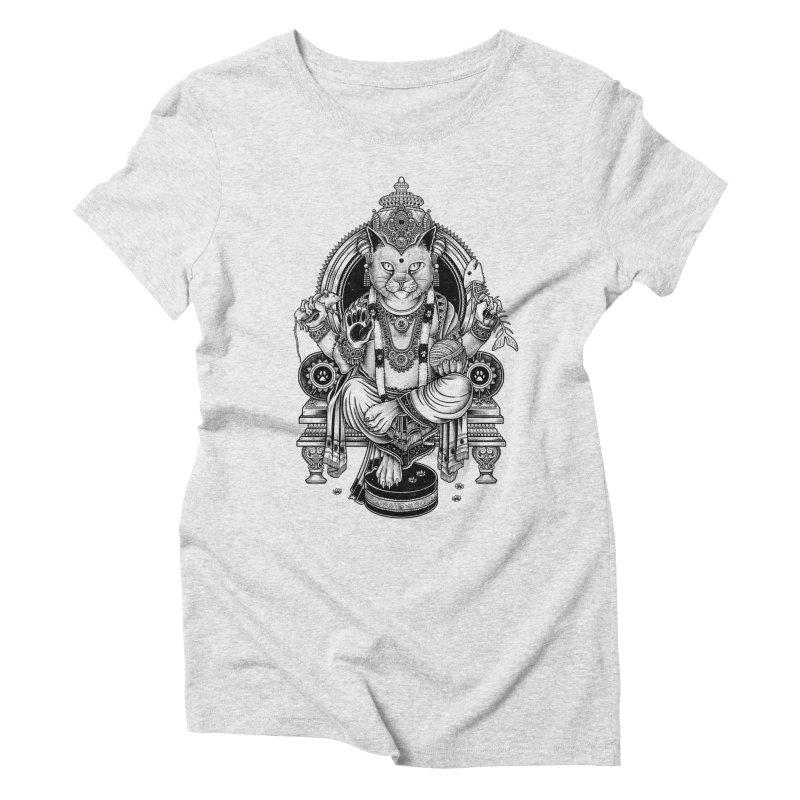 Cat Guru Deva Om Women's Triblend T-Shirt by Michele_Nolli's Artist Shop