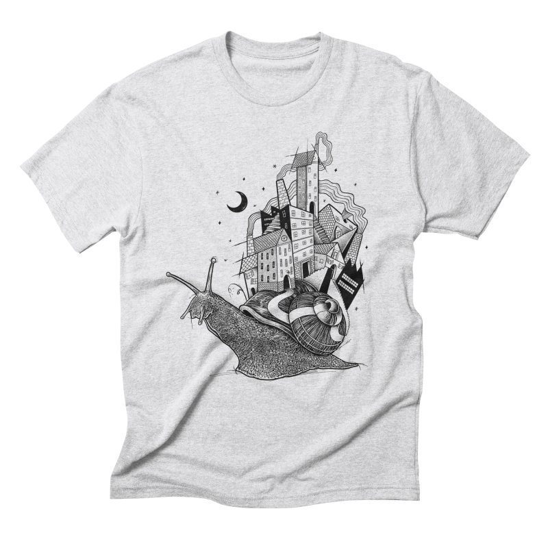 Slow Night And Imaginary Lights Men's Triblend T-Shirt by Michele_Nolli's Artist Shop