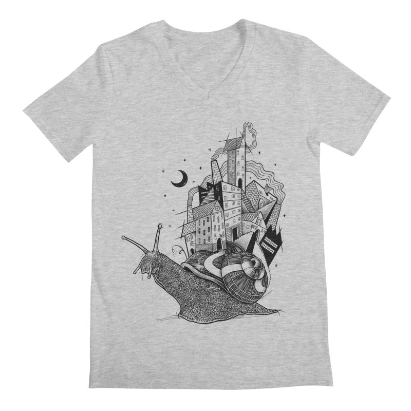Slow Night And Imaginary Lights Men's V-Neck by Michele_Nolli's Artist Shop