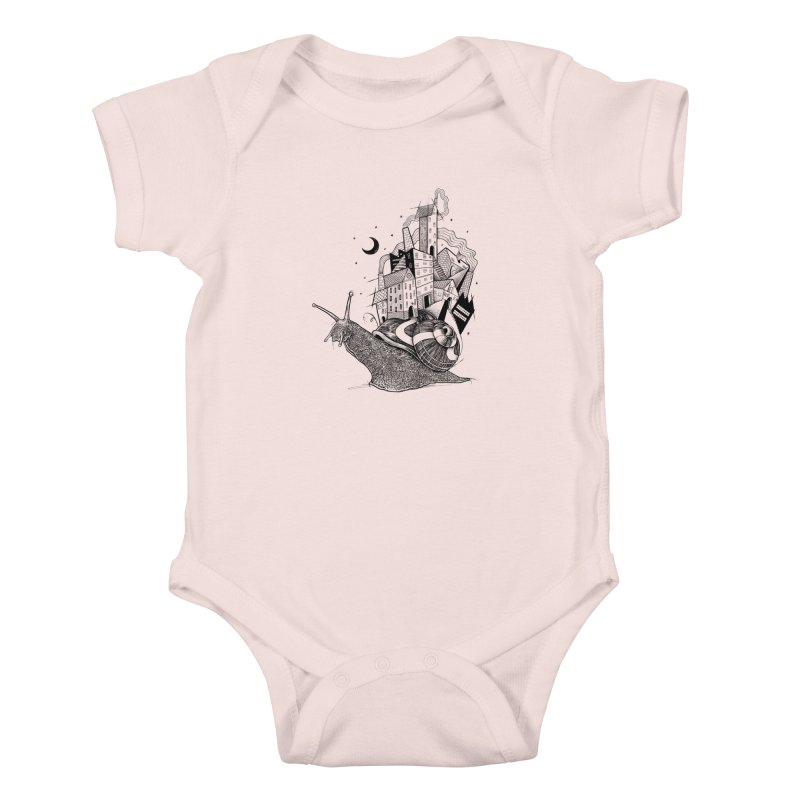 Slow Night And Imaginary Lights Kids Baby Bodysuit by Michele_Nolli's Artist Shop