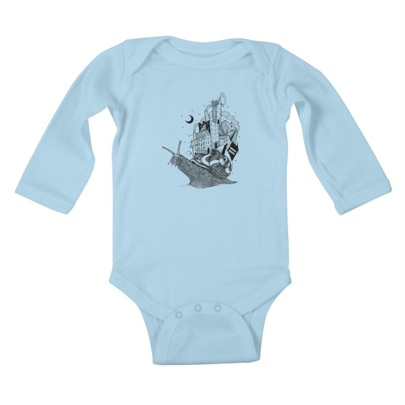 Slow Night And Imaginary Lights Kids Baby Longsleeve Bodysuit by Michele_Nolli's Artist Shop