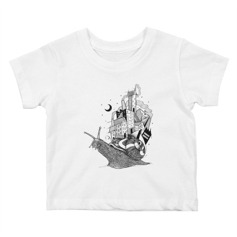 Slow Night And Imaginary Lights Kids Baby T-Shirt by Michele_Nolli's Artist Shop