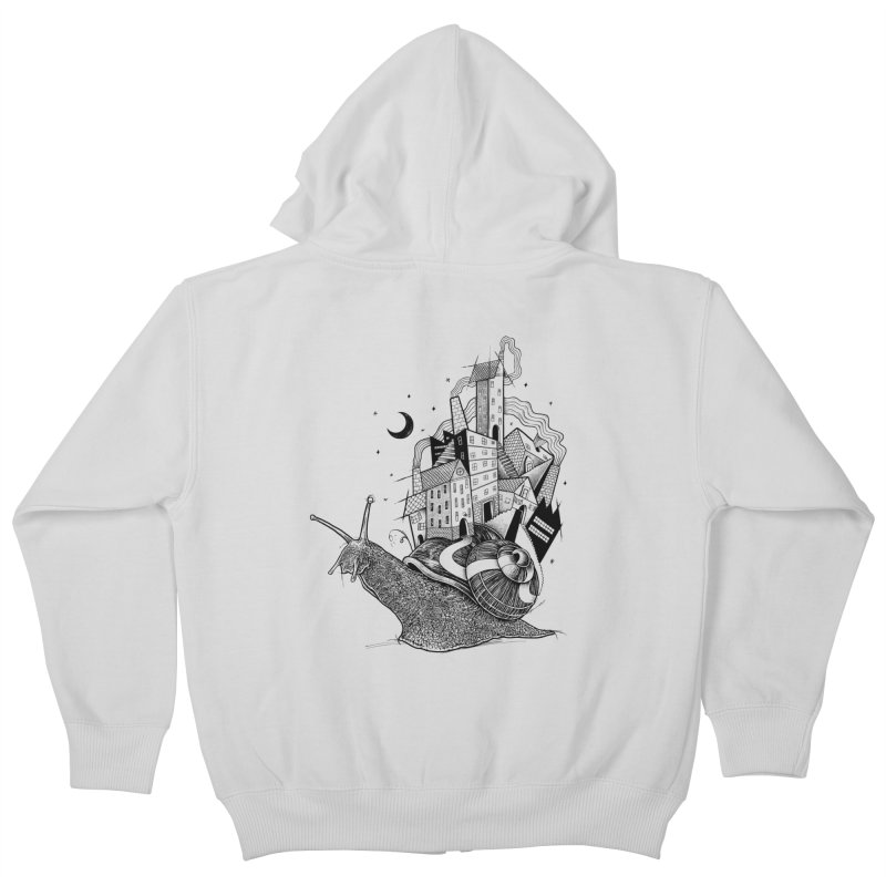 Slow Night And Imaginary Lights Kids Zip-Up Hoody by Michele_Nolli's Artist Shop