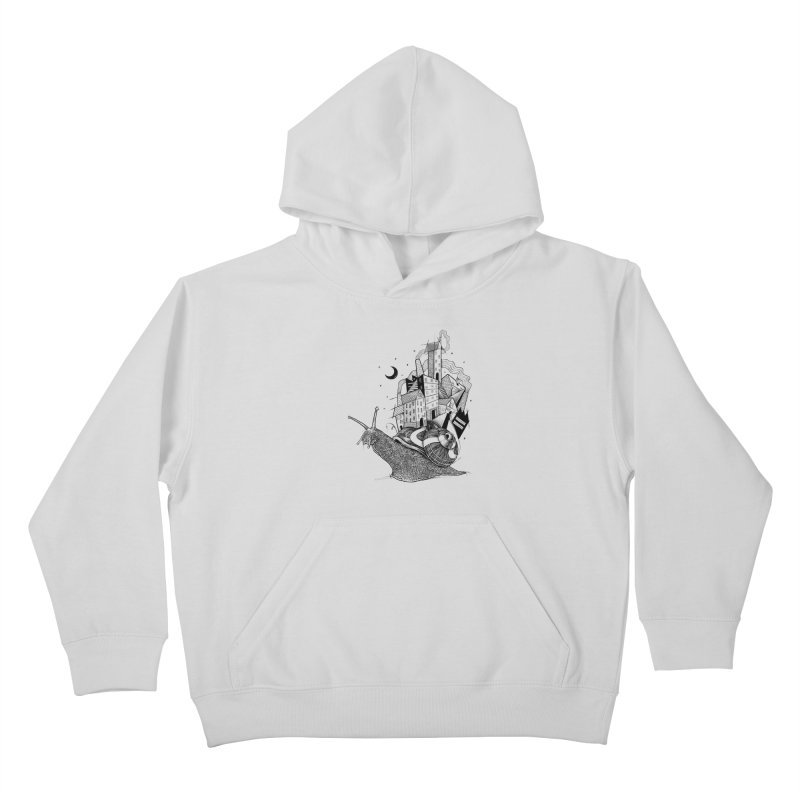Slow Night And Imaginary Lights Kids Pullover Hoody by Michele_Nolli's Artist Shop