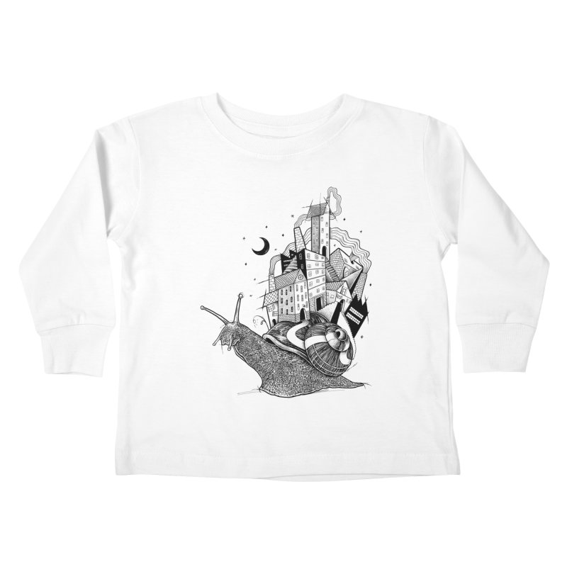 Slow Night And Imaginary Lights Kids Toddler Longsleeve T-Shirt by Michele_Nolli's Artist Shop