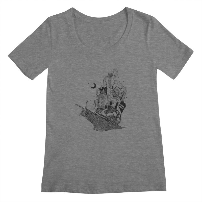 Slow Night And Imaginary Lights Women's Scoopneck by Michele_Nolli's Artist Shop