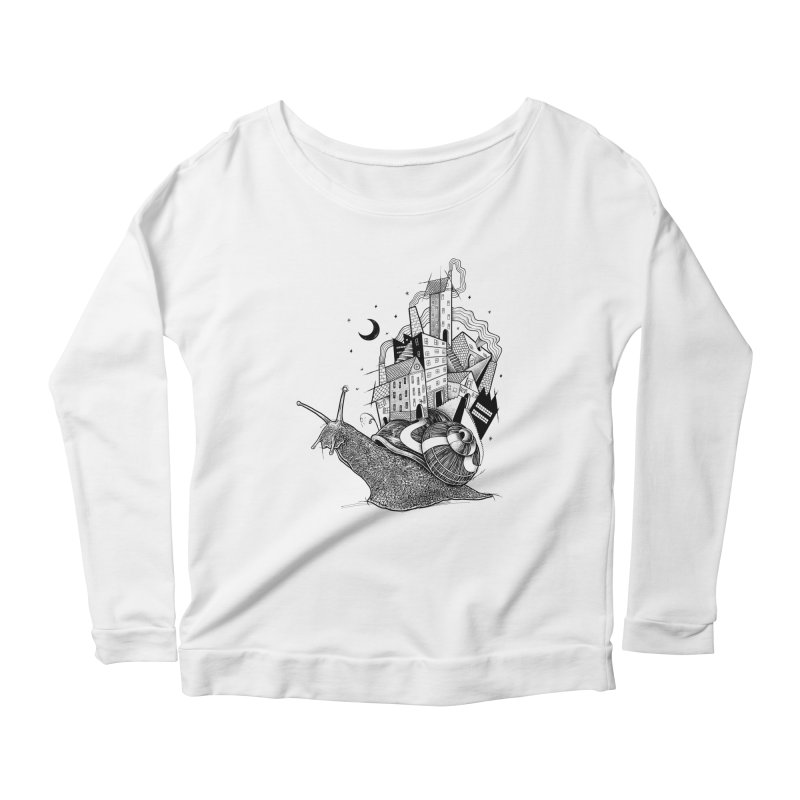 Slow Night And Imaginary Lights Women's Longsleeve Scoopneck  by Michele_Nolli's Artist Shop