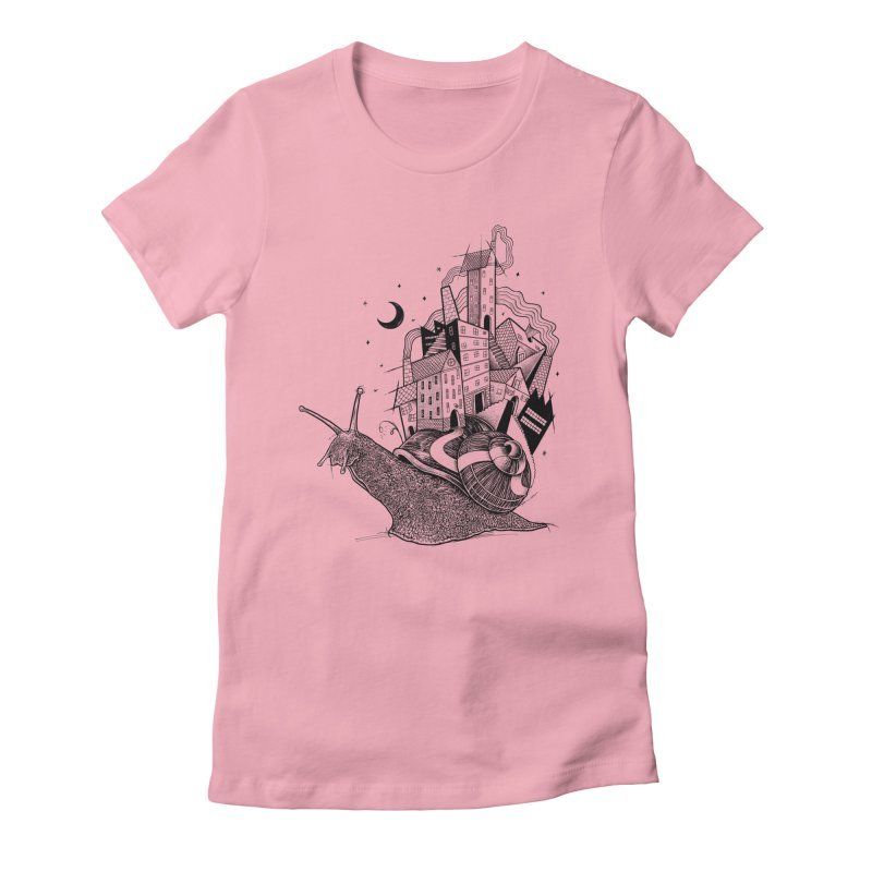 Slow Night And Imaginary Lights Women's Fitted T-Shirt by Michele_Nolli's Artist Shop