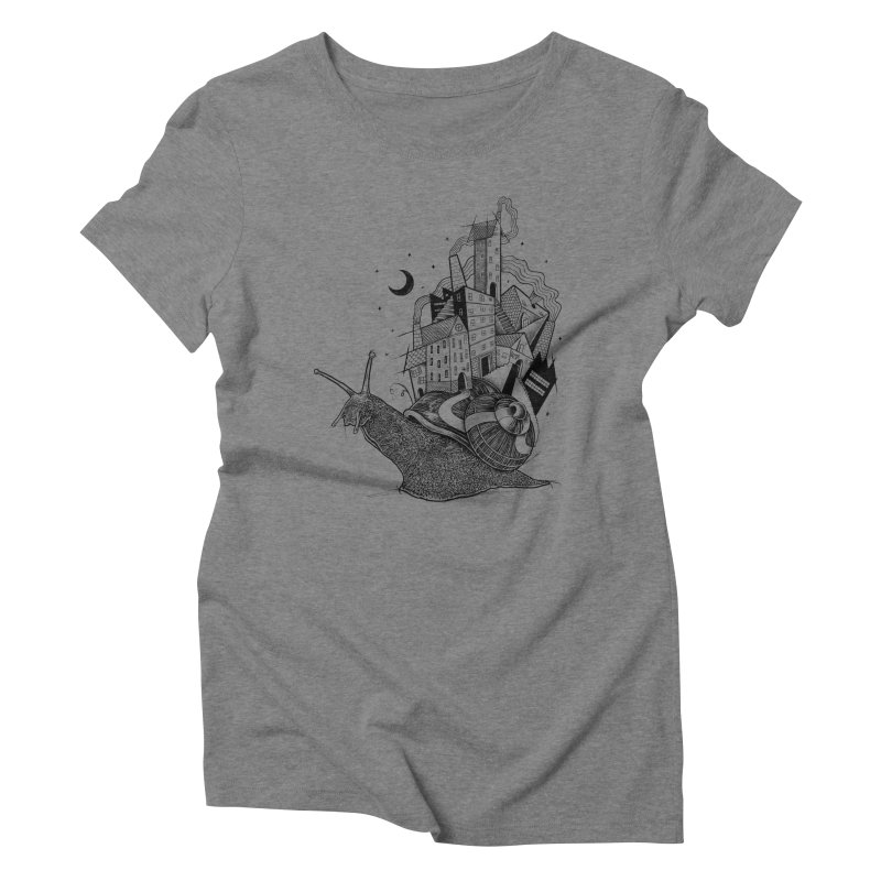 Slow Night And Imaginary Lights Women's Triblend T-shirt by Michele_Nolli's Artist Shop
