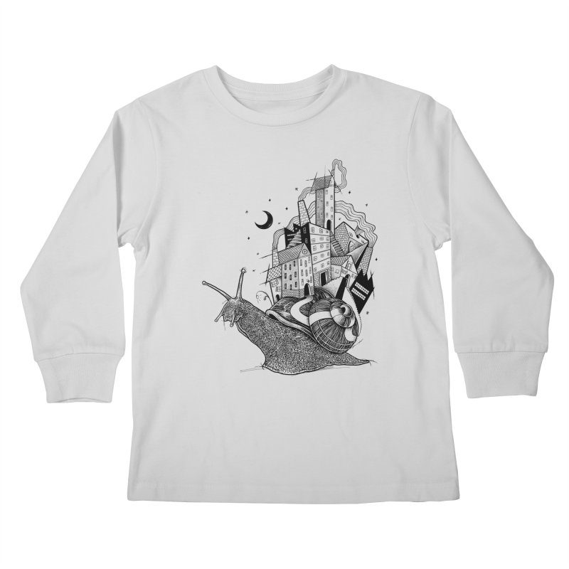 Slow Night And Imaginary Lights Kids Longsleeve T-Shirt by Michele_Nolli's Artist Shop