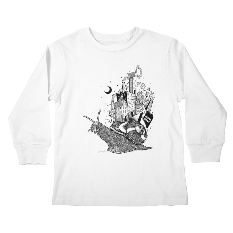 Slow Night And Imaginary Lights Kids Longsleeve T-Shirt by Michele_Nolli's Artist Shop