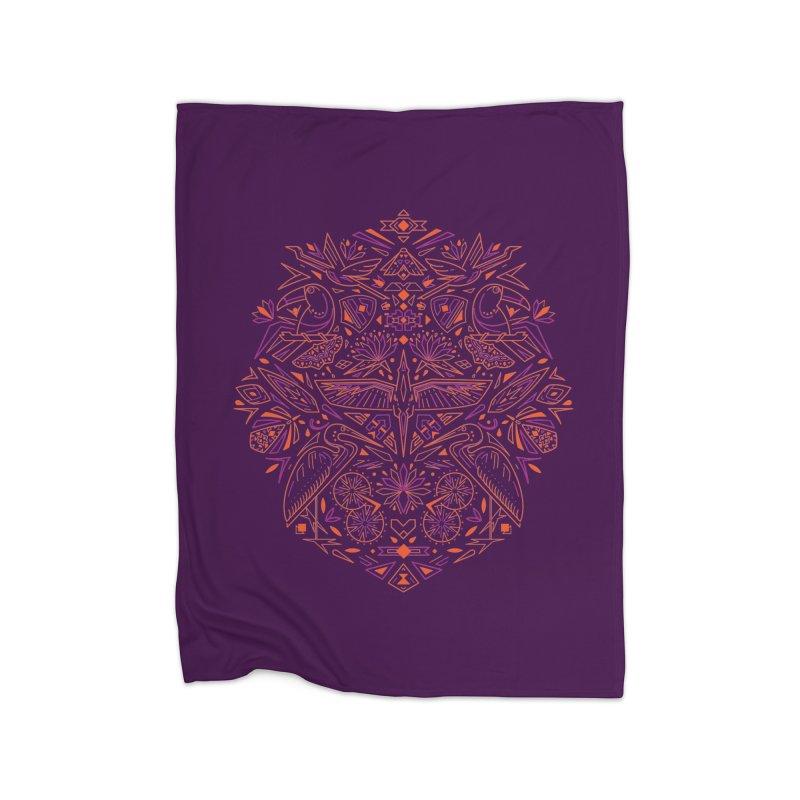 Tropic design Home Fleece Blanket Blanket by nodyt's Artist Shop