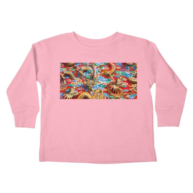 Dragons Ball Kids Toddler Longsleeve T-Shirt by Noir Designs