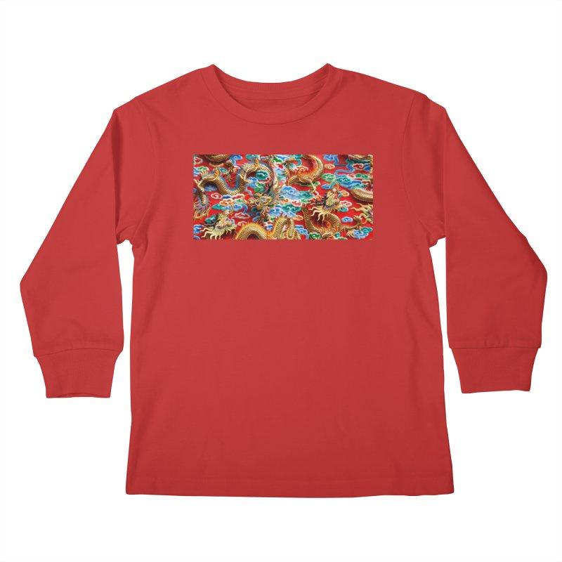 Dragons Ball Kids Longsleeve T-Shirt by Noir Designs