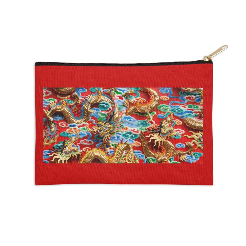 Dragons Ball Accessories Zip Pouch by Noir Designs