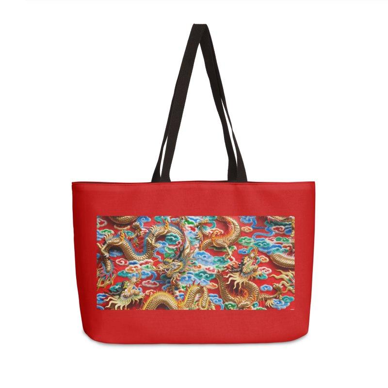 Dragons Ball Accessories Weekender Bag Bag by Noir Designs