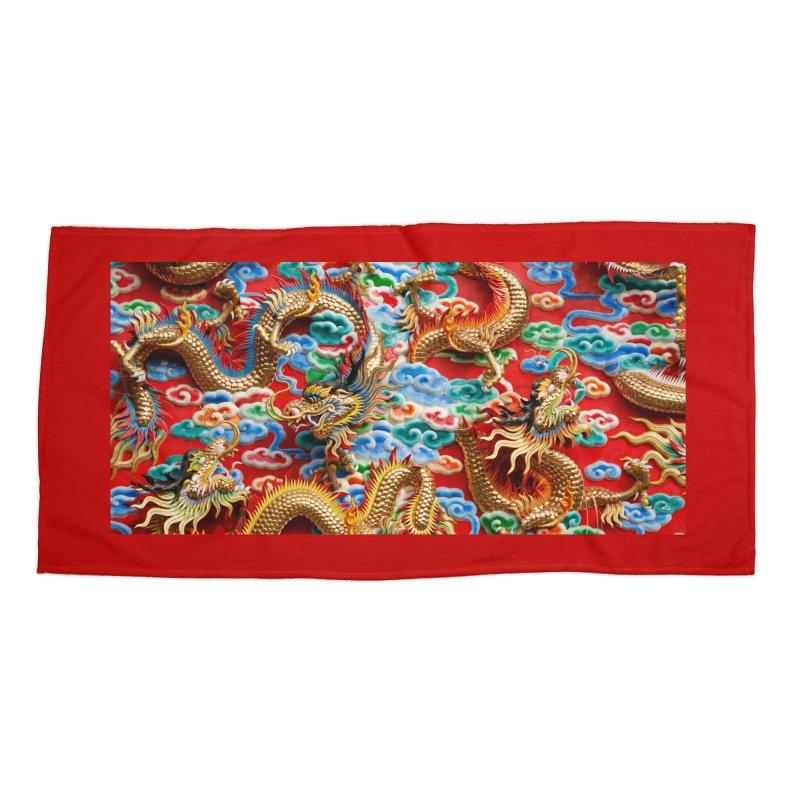 Dragons Ball Accessories Beach Towel by Noir Designs
