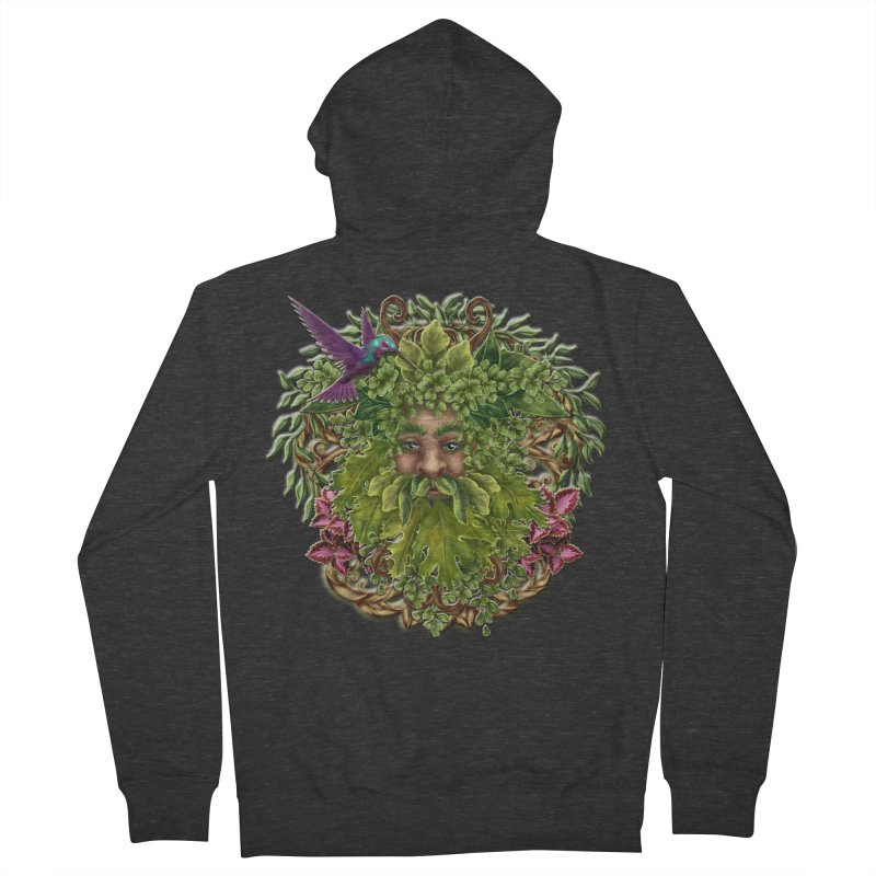 Pan the Pagan Earth God Women's French Terry Zip-Up Hoody by Noir Designs