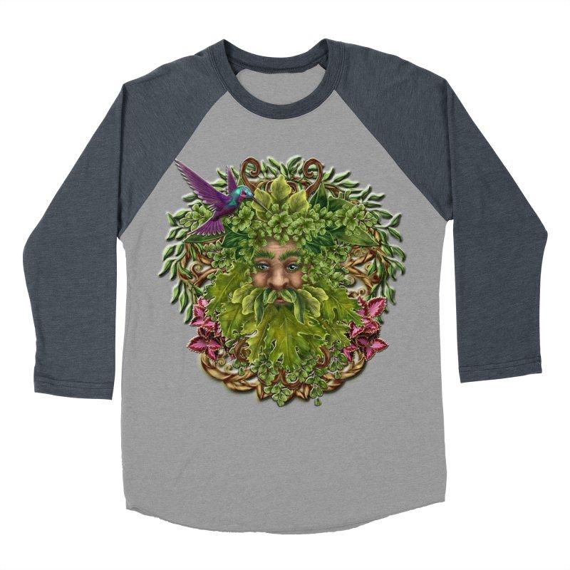 Pan the Pagan Earth God Men's Baseball Triblend Longsleeve T-Shirt by Noir Designs