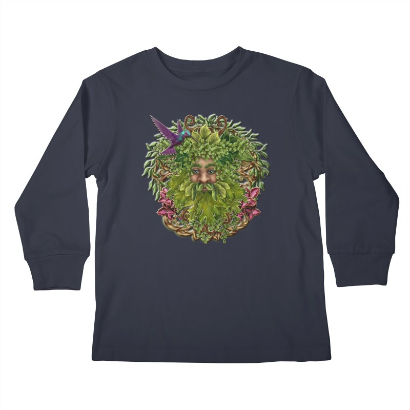 Pan the Pagan Earth God Kids Longsleeve T-Shirt by Noir Designs