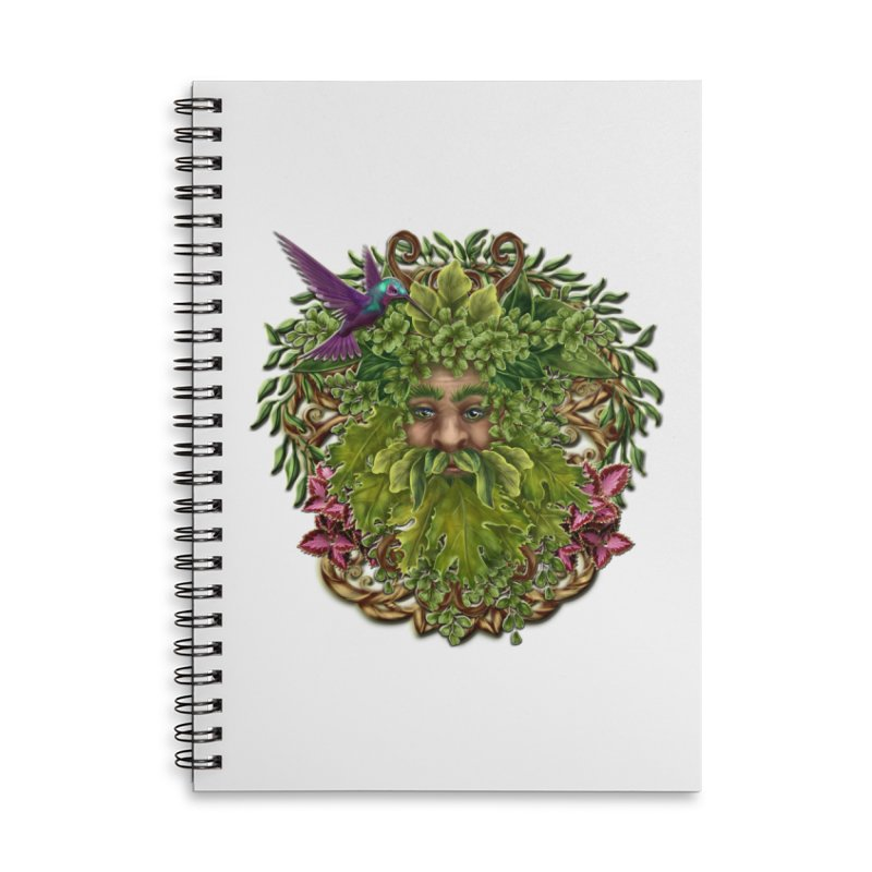 Pan the Pagan Earth God Accessories Lined Spiral Notebook by Noir Designs