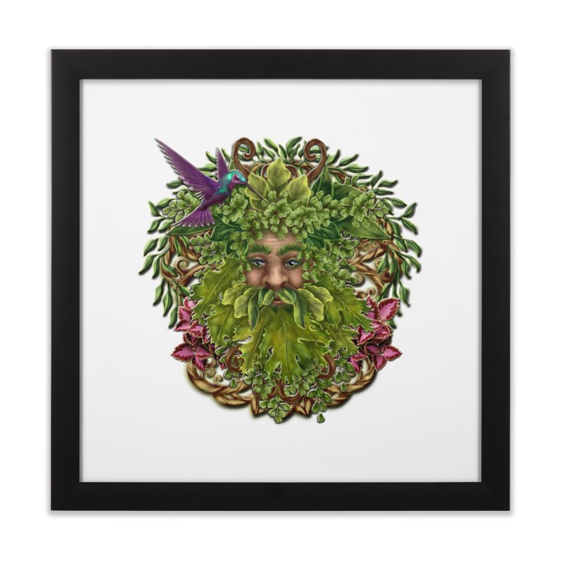 Pan the Pagan Earth God Home Framed Fine Art Print by Noir Designs