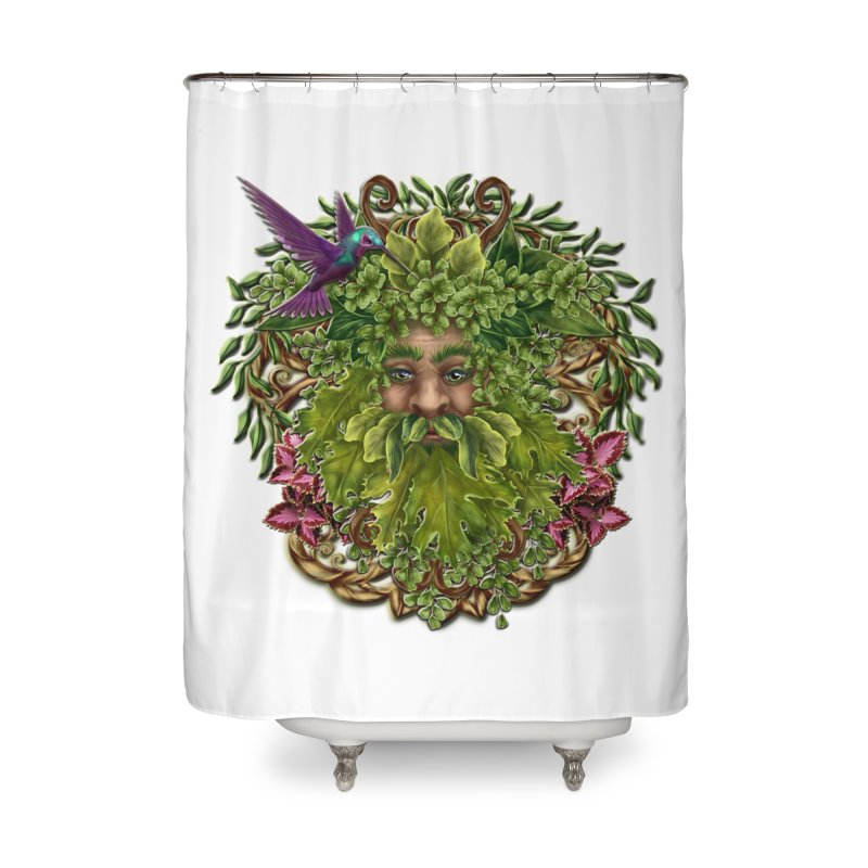 Pan the Pagan Earth God Home Shower Curtain by Noir Designs