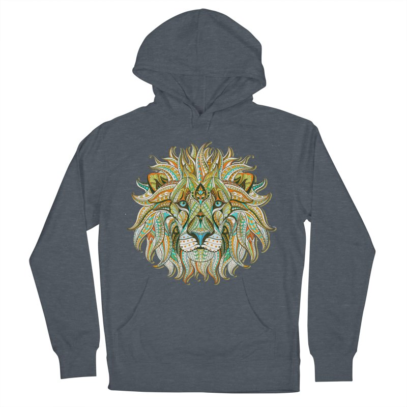 Lionometry Men's French Terry Pullover Hoody by Noir Designs