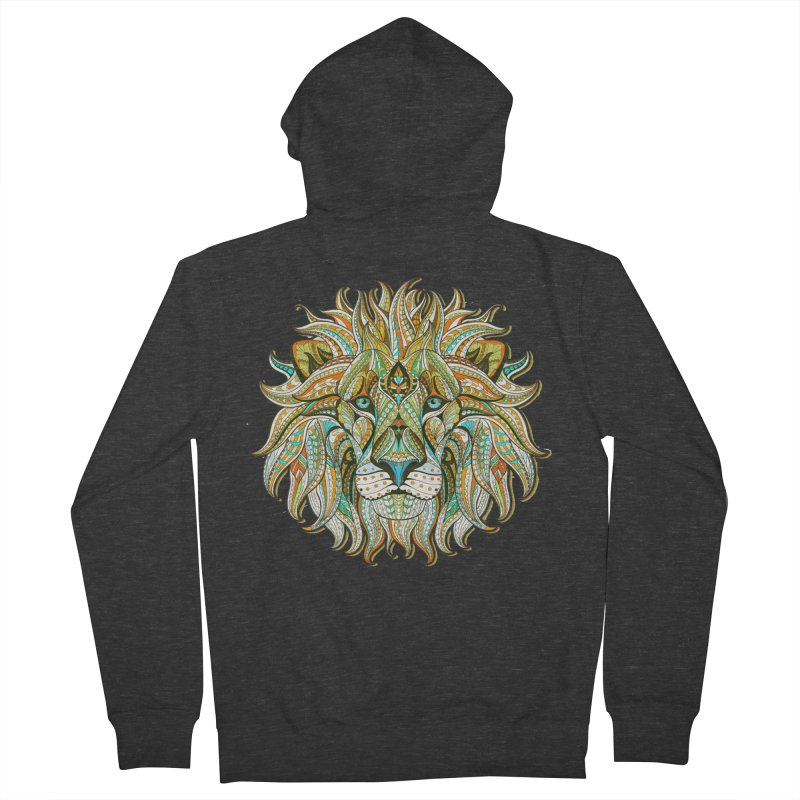 Lionometry Women's French Terry Zip-Up Hoody by Noir Designs